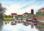 Middlewich branch, Trent & Mersey Canal :: pastels drawing by kind permission of mojacobs