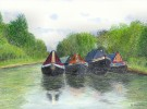Moored boats, Stockton, GUC :: colour pencil drawing by kind permission of mojacobs