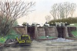 Wheelock, Trent & Mersey Canal  :: pastels drawing by kind permission of  mojacobs